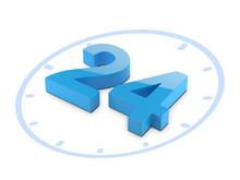 Time O'clock 3D Model. Clock F...