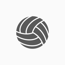 Volleyball Icon, Ball Vector
