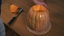 Halloween. Man  Make A Pumpkin...