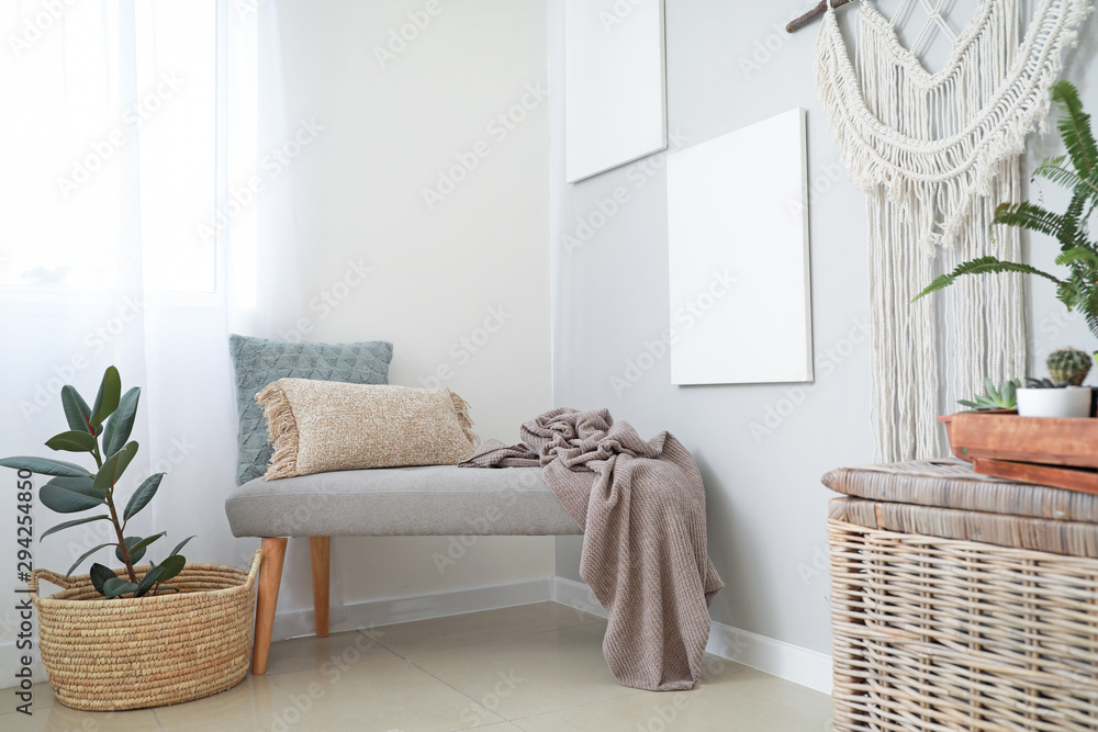 Fototapety, obrazy: Stylish interior of room with beautiful houseplants