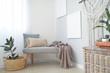 Leinwanddruck Bild Stylish interior of room with beautiful houseplants