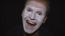 Clown Halloween Man Portrait. ...