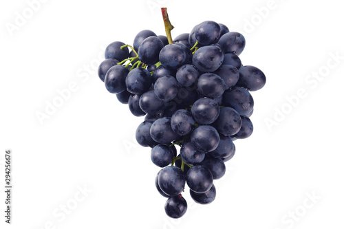blue grape isolated on a white background. Food Fototapet