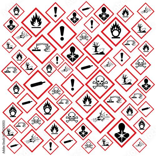Pictogrammes danger GHS. Canvas Print