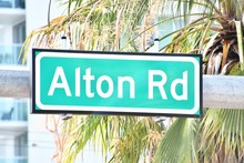 Street Sign In Miami City Flor...