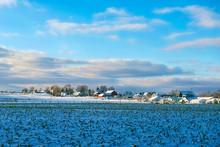 Rural Indiana Landscape In Winter