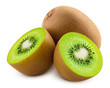 canvas print picture - kiwi isolated on white background, full depth of field, clipping path