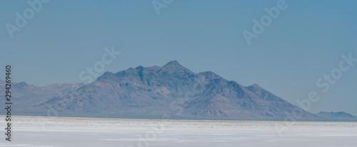 Landscape of Bonneville Salt Flats in Utah Canvas Print