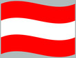 Austria Waving national flag, isolated on background. original colors and proportion. Vector illustration symbol and element, for travel and business from countries set