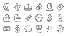 Money Payment Line Icons. Acce...