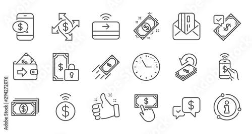 Fotografía Money payment line icons