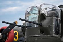Rear Gun Turret On WWII Warbird B-24 Liberator Bomber