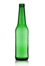 Empty Green Beer Bottle