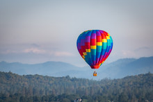 Colorful Hot Air Balloon Over ...