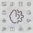 Brain gear icon. Universal set of mix for website design and development, app development
