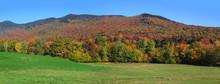 Panoramic View Of Autumn Lands...