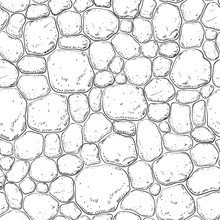 Seamless Pattern With Stones. ...