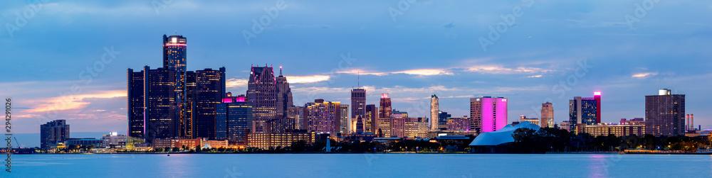 Fototapety, obrazy: The City of Detroit