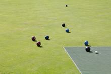 Lawn Bolling Or Bocci Balls On...