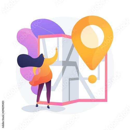 Fotografía Journey route planning