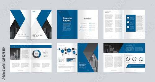 Fotografie, Obraz  template layout design with cover page for company profile ,annual report , brochures, flyers, presentations, leaflet, magazine,book