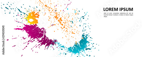 Abstract background - bright spots of paint. Wallpaper Mural