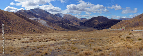 Lindis Pass Panorama, Central Otago, New Zealand Canvas Print