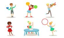School Children Hobbies Set, T...