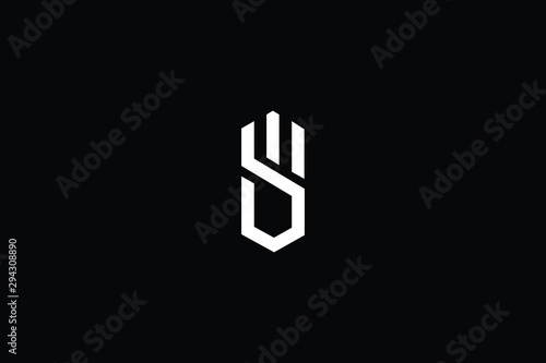 Stampa su Tela  Initial based clean and minimal Logo