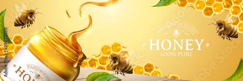 Pure honey banner ads Wallpaper Mural
