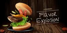 Delicious Hamburger Ads
