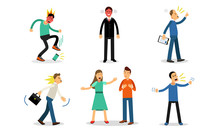 Vector Illustration Set With C...