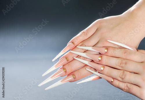 Fotomural Beautiful long woman nails