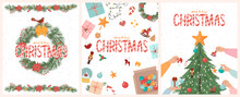 Set Of Merry Christmas Cards W...