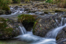 Flowing Mountain Stream With S...