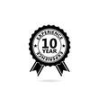 Leinwanddruck Bild - 10 years experience web icon illustration isolated on white background