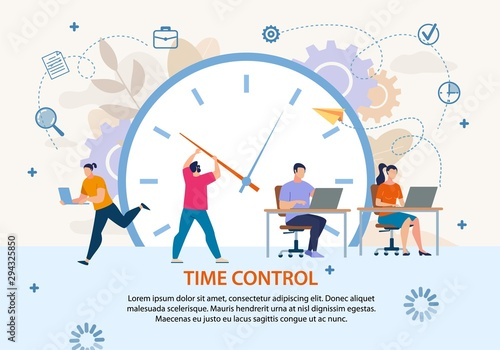 Time Control Project Management Business Poster Wallpaper Mural