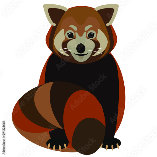 Cartoon Cute Red Panda With Long Tail Isolated On White Vector Illustration Buy This Stock Vector And Explore Similar Vectors At Adobe Stock Adobe Stock
