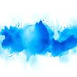 Leinwandbild Motiv brush splash blue watercolor.creative image