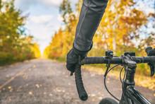 Biking First Person View Of Bi...