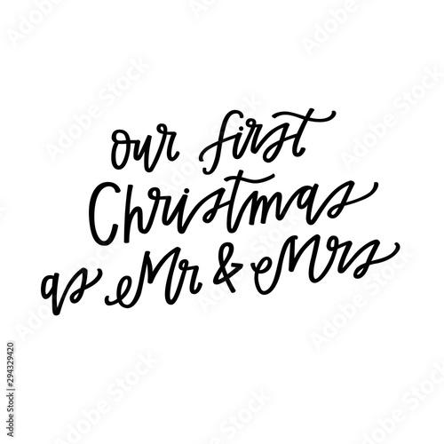 Obraz na plátně  Our first Christmas as Mr and Mrs