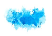 Splash Shades Blue Watercolor ...