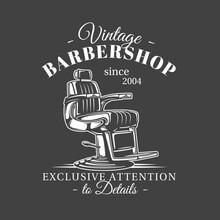 Barbershop Label Isolated On B...
