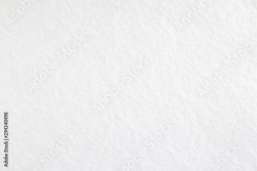 Fototapeta White blank sheet of drawing paper with rough surface texture background. obraz