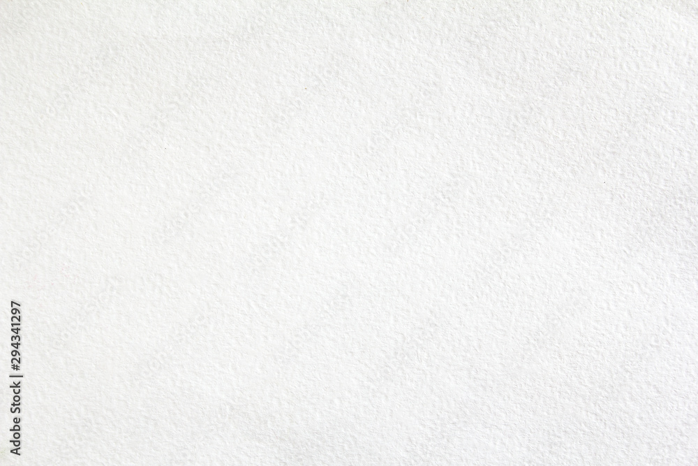 Fototapeta White sheet of thick drawing paper with rough surface texture background.