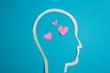 Hearts inside head