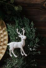 Christmas Table Set, Reindeer Figurine Detail