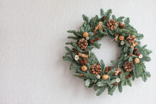 Christmas Wreath Made Of Natur...