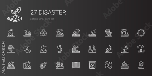 disaster icons set Fototapete