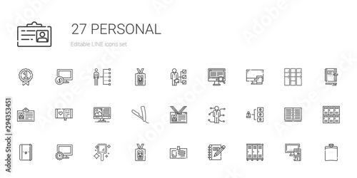 Fotografía  personal icons set